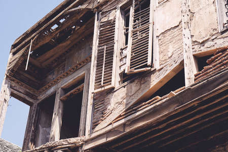Ruinous building in Istanbul from the time of splendor of the Ottoman Empire