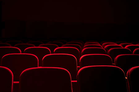 Cinema  theater red seats background