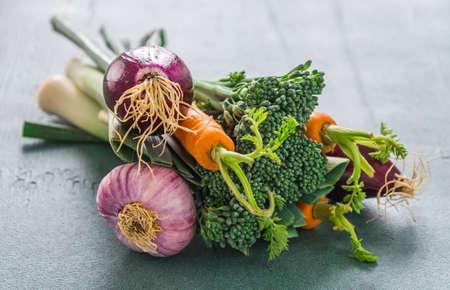 Closeup of bouquet of vegetables