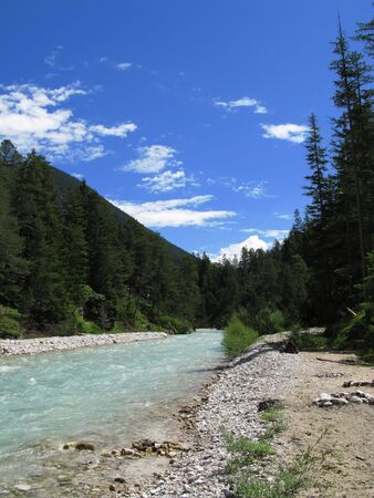 small river isar, austria Stock Photo - 3337640