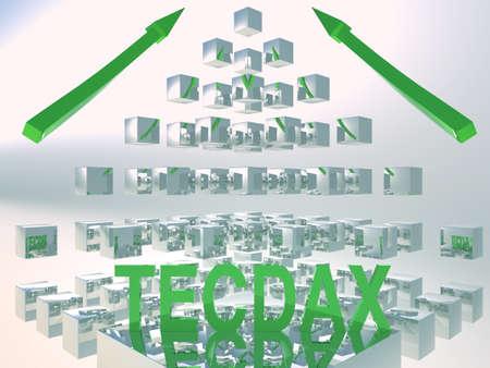 tec: TecDax Rising 3D Concept