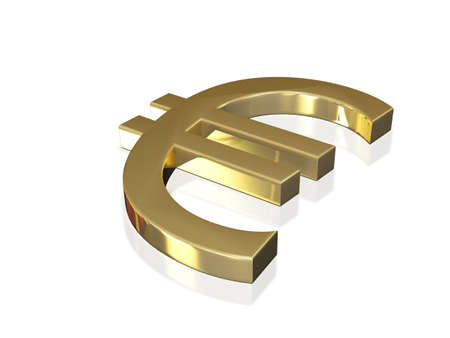 coherence: Gold euro sign 3d Concept Stock Photo