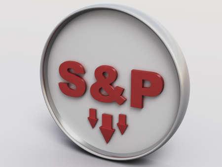 dow: S&P 500 Pure Concept II Stock Photo