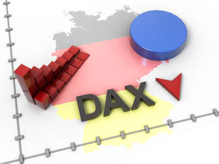 trading floor: DAX 3D Rcession