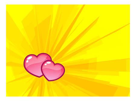 merge: Two Hearts Merge Stock Photo