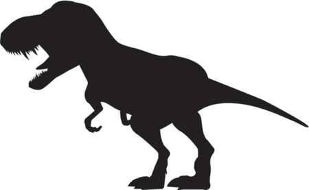Dinosaur Silhouette Stock Vector - 451083