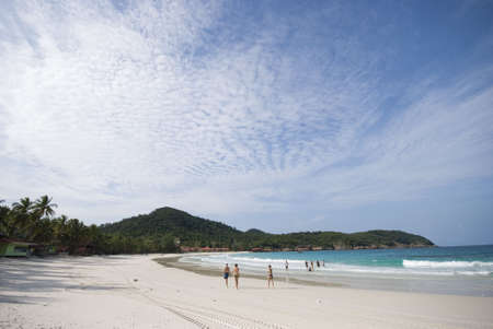 redang: View of sea and island from the beach of Redang Island, Terengganu, Malaysia.