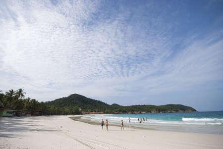 terengganu: View of sea and island from the beach of Redang Island, Terengganu, Malaysia.