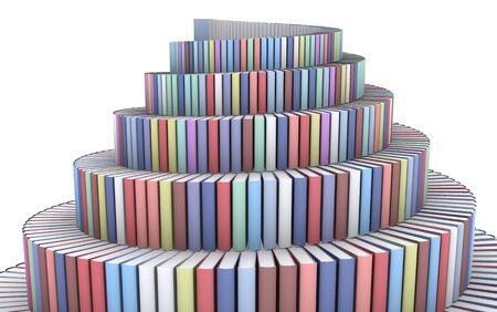 흰색에 책에서 만든 바벨탑 스톡 콘텐츠 - 6367685