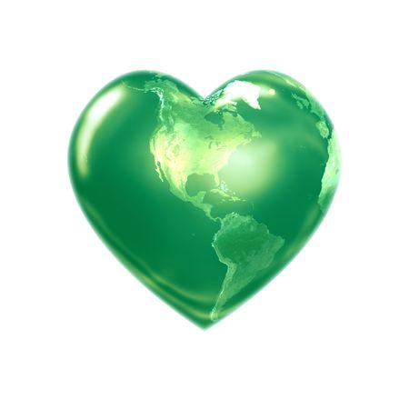 greenpeace: World heart green america Stock Photo