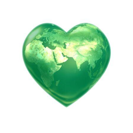 World heart green eurasia photo