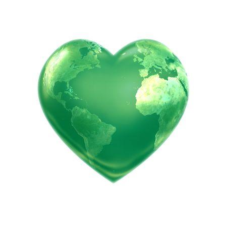 World heart green photo
