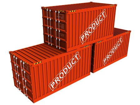 Containers with Product Stock Photo - 6367775
