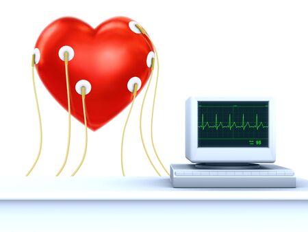 cardioid: concepto de tarjeta de San Valent�n - cardiogram de coraz�n Foto de archivo