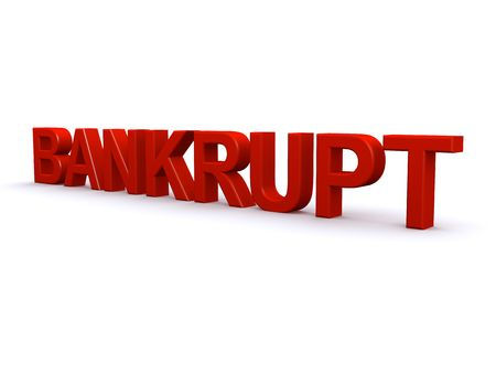 Bankrupt 3D sign photo