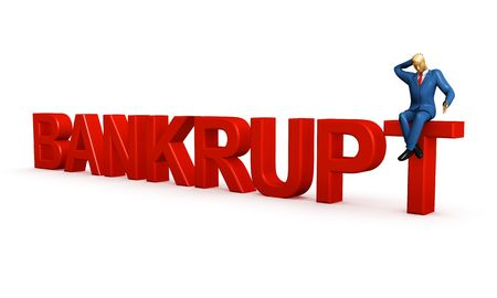credit report: Businessman and bankruptcy