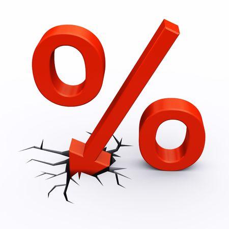 Discounthotels in Prozent Lizenzfreie Bilder