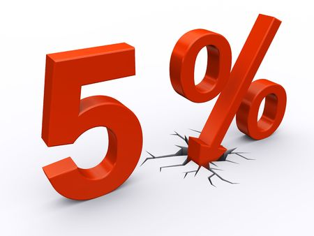 5 perscent discount Stock Photo - 6967765