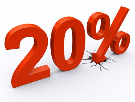 20 perscent discount Stock Photo - 6967769