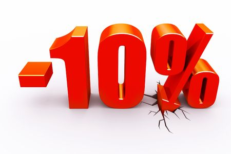 10 percent discount Stock Photo