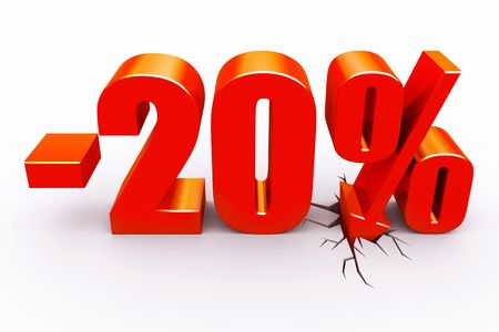 20 perscent discount Stock Photo