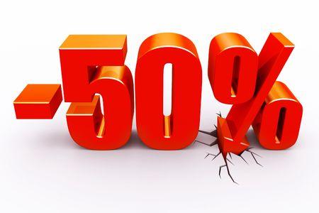 50 Perscent-Rabatt