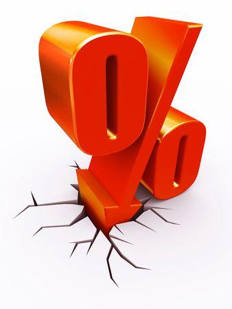 Rabais de parole hitting pourcentage Banque d'images