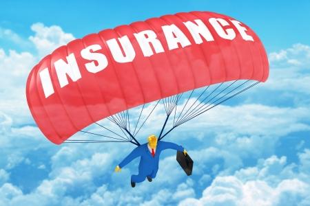 insurance concepts: Insurance parachute