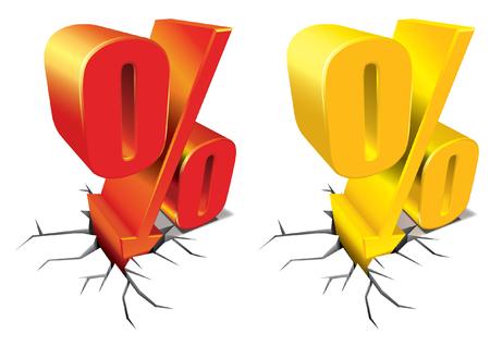 Percent Discount Vectores