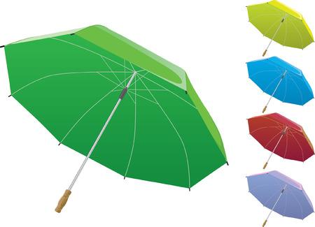 wet wood: 3d umbrella