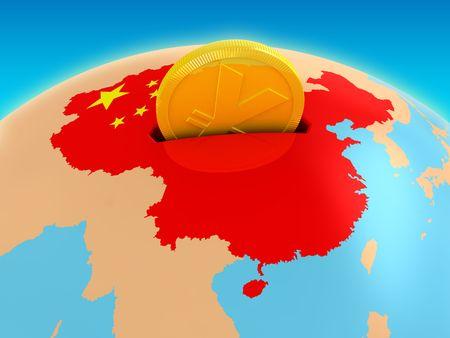 Chinese map: Inversi�n de China