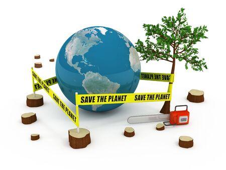 deforestacion: Guardar el concepto de planeta