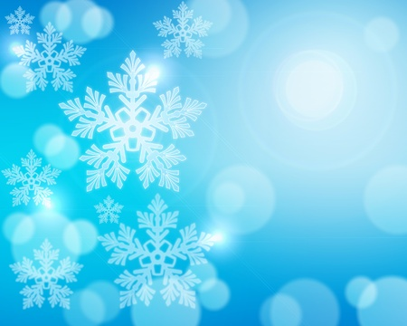 snow flake: Christmas abstract background