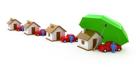 Home Versicherung, Lebensversicherung, Auto-Versicherung Lizenzfreie Bilder