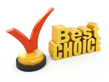 Premio al mejor elección concepto marca de verificación