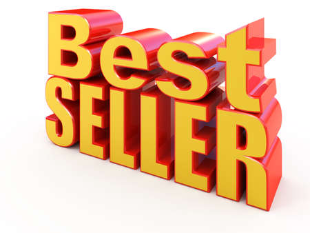 Bestseller sign isolated on white Stock Photo - 8808084