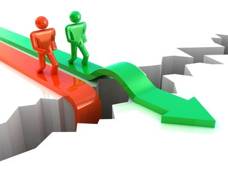 Éxito de la empresa. Concepto de competencia