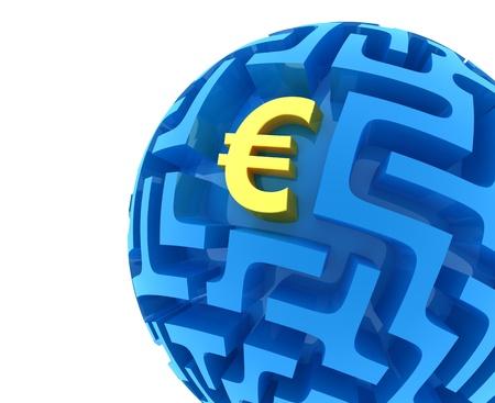 money sphere: Euro puzzle. Money Sphere Maze