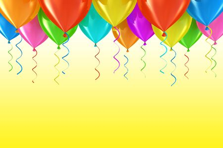 Party balloons abstract background Stock Photo
