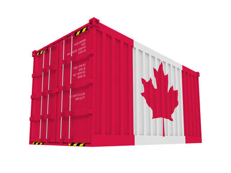 Canadian cargo container isolated on white Stock Photo - 9006602