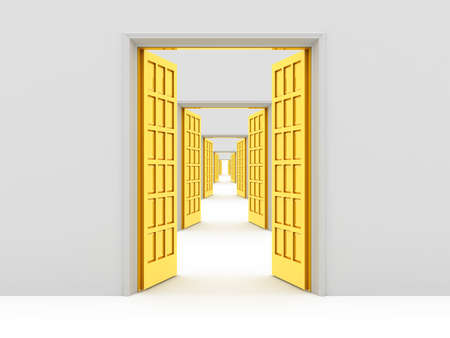 Many opened doors Stock Photo - 9006634