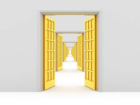 many doors: Many opened doors