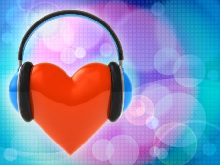 Amo la música. Fondo abstracto