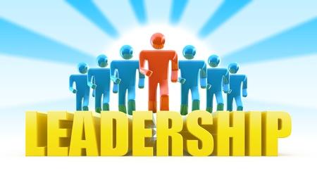 leiderschap: Leiderschap concept
