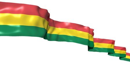 bandera de bolivia: Bandera de cinta de Bolivia aislado en blanco