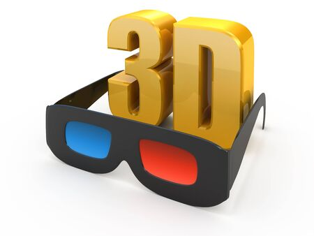 3d movie glasses isolated on white Stock Photo - 9052602