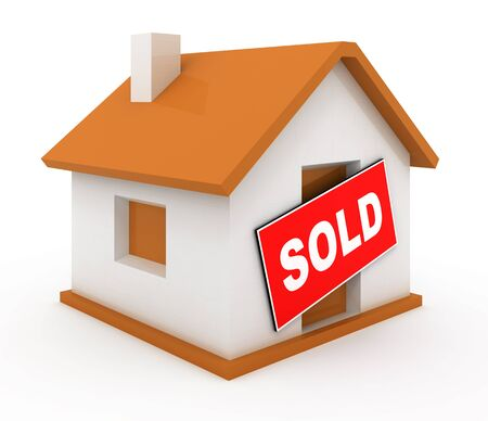 Sold house Stock Photo - 9052604