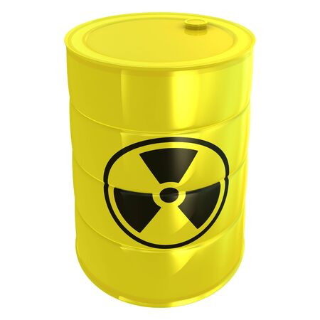 radioactive tank isolated on white Stock Photo - 9096651
