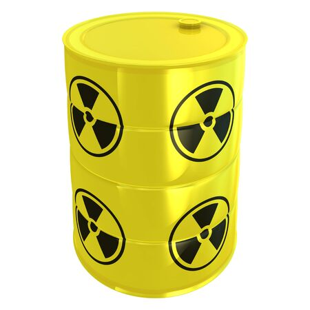 radioactive tank isolated on white Stock Photo - 9096652