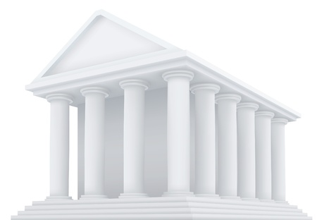 High detailed 3d illustration of an ancient building